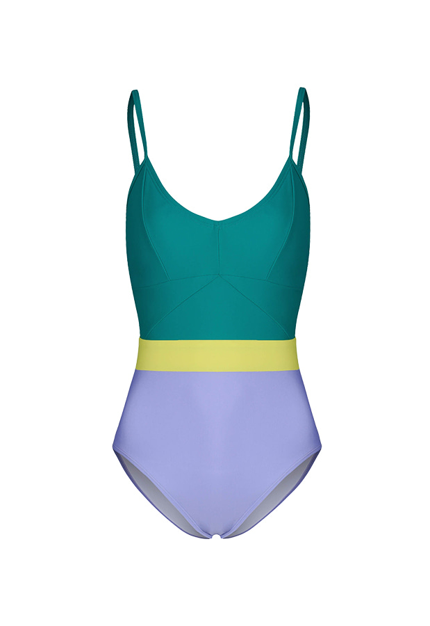 20 Jennie One Piece - Green / Violet