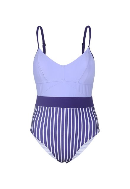 Jennie One Piece - Violet / Purple Stripe