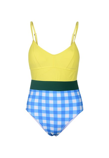 Jennie OPS - Lemon / Blue Check