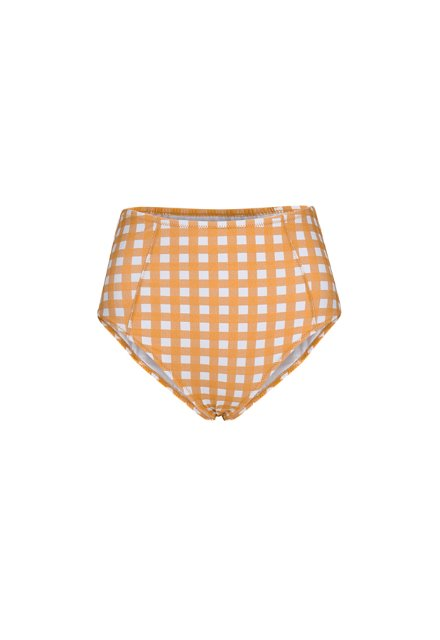 Kelly High Waist Bottom - Orange Check