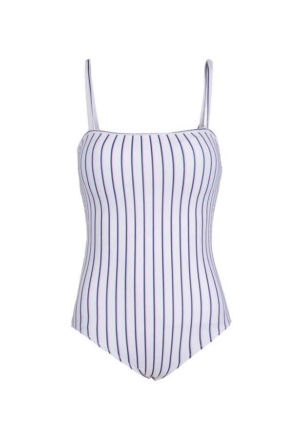 Avril One Piece - White(Pink/Navy)