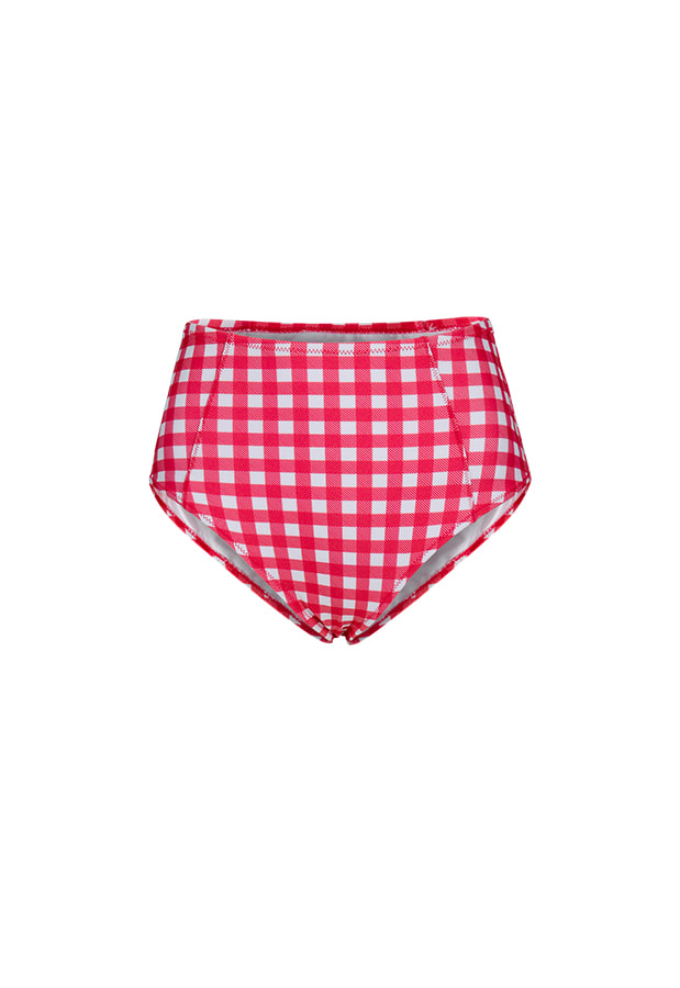 Kelly High Waist Bottom - Red Check